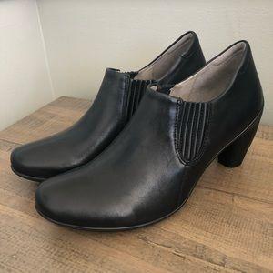 ECCO leather slip-on heels, sz 40